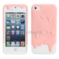 BUH9 Sweet 3D Design Melting Ice Cream Hard Case Protector for Apple iPhone 5