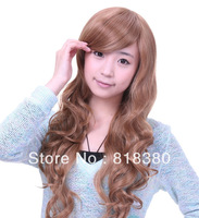 Golden brown scroll wig free shipping