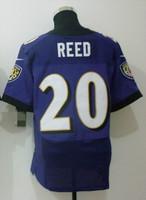 Free Shipping Wholesale Men's American Football Jerseys Cheap Baltimore ##20 Ed Reed Black Purple Elite Jerseys,Mix Order