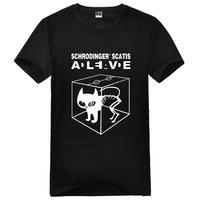 The Big Bang Theory Sheldon Cooper Schrodinger 's Cat couple t-shirt cotton free shipping high quality