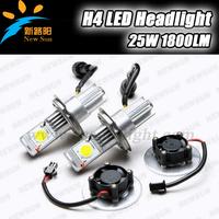 Super saving 5 sets 50W Car H4 High Low Beam HeadLight Lamp CREE Led Bulbs 1512 12V Warm White Headlight Fog Lights bulbs DC 12V