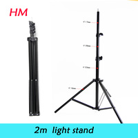 """2015  new hot 6'56"""" 200cm Light Stand Tripod for  Photo Video Lighting Flashgun Lamps 3 sections for indoor photography studio"""