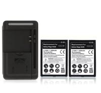 2x 3500mAh Battery + Wall Charger for Samsung Galaxy Mega 6.3 i9200