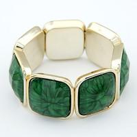 Acrylic Elastic Colorful Beaded Stretch Bracelet  Bangle Fashion Jewelry