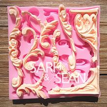 M0253 Roma beira do laço moldes de resina de silicone macio para sabão Bolo Craft sabão cortador artesanal(China (Mainland))
