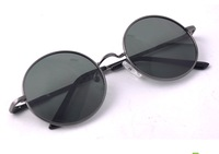 Vintage Round FRANE Sunglasses Fashion Male And Female glasses Black/Gray/Gold Color  Star Style With Bag&Cloths Free Shipping
