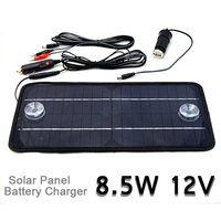high quality Multi-Purpose panel solar charger battery monocrystalline Cell Phone Car RV12V 8.5W