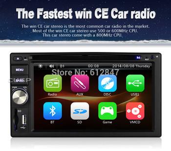 Universal 7 Inch 1 Din Car DVD Player with GPS Navi  AM FM Radio Panel SD USB Audio Tape Recorder Free Camera ,steering wheel