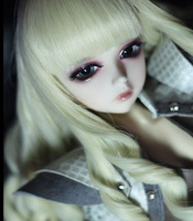 Free shipping Bjd doll wig high temperature wire princess roll c48h doll accessory