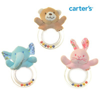 6pcs/'lot wholesale 2014 Cute Cartoon ainimal free shipping Baby teether newborn baby rattle toy safety biting rubber B715