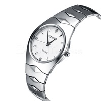 Fashion quartz tungsten steel color couple watches - Free Shipping!