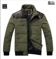 2013 Winter New Korean men fight jacket men's cotton jacket leather parka jacket fit body outdoors