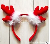Animal headdress Christmas hoop antlers antlers with fluff free shipping