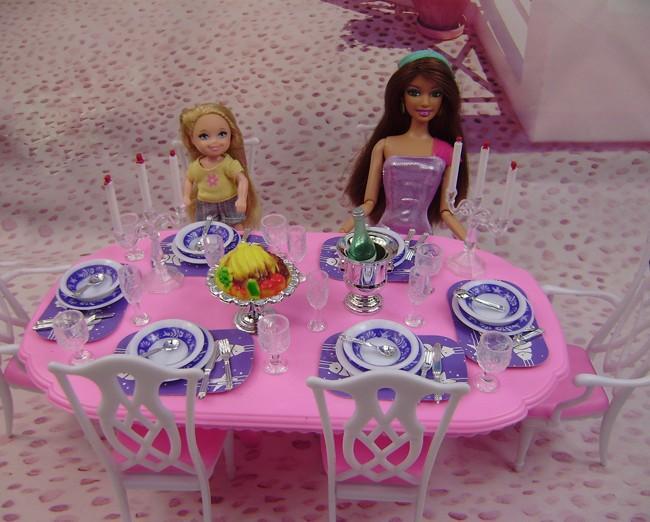 Посуды аксессуары для куклы барби