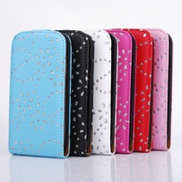 Blinging Flip leather case for samsung Galaxy S4 I9500 , protective case