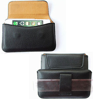 HKP ePacket Free Shipping Leather Pouch phone bags cases with waist belt for philips w536 Cell Phone Accessories