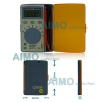 MASTECH MS8216 Digital Multimeter 4000 Counts LCD Autoranging AC/DC Voltage DMM Pocket Tester Detector with Diode