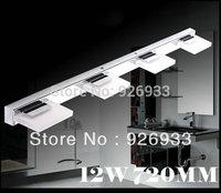 Free Shipping Led Mirror Light 85-265V 12W 720mm Modern Bathroom Mirror Lamp Acylic Wall Light HK158