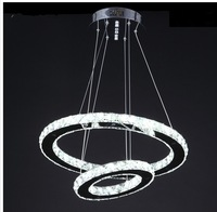 36Watt LED Crystal Chandelier D500*300MM 2 Rounds 2Sides Crystal Diamond Crystal Modern Foyer Chandelier Lamps (110V&220V)