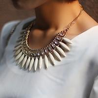 Free shipping 2014 new jewelry accessories european style fashion noble rhinestone gem necklace vintage punk royal short women