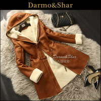 Wool fur one piece leather clothing Women long design one piece fur outerwear fur overcoat women's 2013