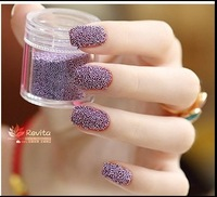 Elegant Metallic light Purple Caviar pearls Manicure Small Beads micro perle Ciate Nail Arts