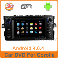 7''Android 4.0 Car DVD Player for Toyota Corolla 2012 2006 2007 2011 Multimedia with GPS Navi Radio Stereo BT TV iPod 3G WIFI