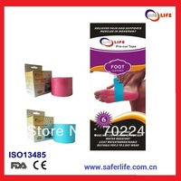 2013 sport therapy cure muscle multicolor precut kinesio tape patch strip kinesio tape for foot muscle tape for foot