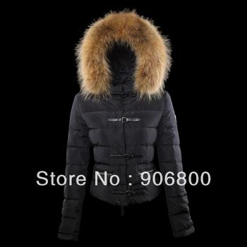 North women down jacket 2013 new parka thin coat stylish european cold winter Big fox fur collar brand name goose clothes