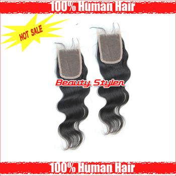 """Free Shipping Brazilian Virgin Hair Lace Top Closure Body Wave 3.5*4"""" Closure Remi Hair Brazilian Closure Body Wave"""