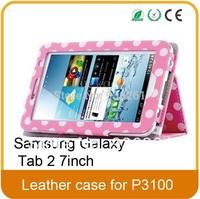 Samsung Galaxy Tab 2 P3100/P3110 , 7-inch case Polka Dot Leather Case Tablet PC Fashion Polka Dots With Sleep Wak