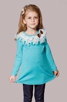 Free Shipping Lotus Leaf Laciness Girls Autumn Clothing Child New Style Children's Long Sleeve T-shirt Kid's Fashion T-Shirt