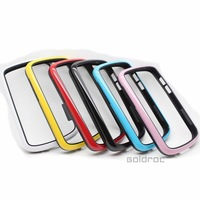 High Quality Dual-color Design Frame Bumper Soft TPU Protective Case Cover for Blackberry Q10 Free Shipping