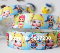 1'' (25mm) Grosgrain ribbon Polyester Cartoon DIY haribow etc.accessories OEM 100 yards/roll rib knitting belt gift packaging