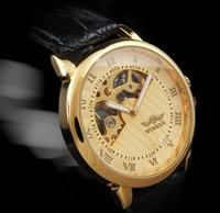 Free Shipping!!! Brand Winner Mens Black Skeleton Hand Wind Mechanical Watch Wrist Watch Drop Ship