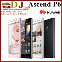 Original Huawei Ascend P6 P6S Phone 4.7 inch Quad Core 2G RAM 8G ROM Dual SIM Android 8MP Camera Smart Mobile Phone