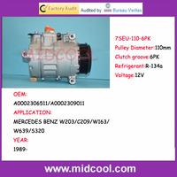 High Quality 7SEU  auto compressor  for MERCEDES BENZ A0002306511/A0002309011