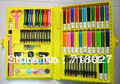 Children painting suit stationery set box 86 piece brush sets crayons/crayons many design and color