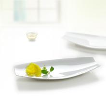 Prato de porcelana de qualidade Frete grátis sushi qualidade retangular prato de sobremesa de plástico talheres(China (Mainland))