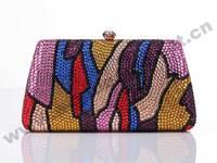 PU lining Colorful clutch crystal evening bag vans U0036,Designer handbsgs+free shipping