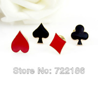 Mother's Day New 2014 Chritmas Gift  Poker Collar Board Brooches For Women Fashion Jewelry Gifts jewelry