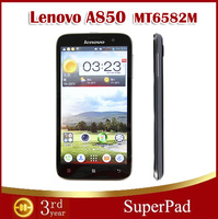 "Original Lenovo A850 MT6582 1.3GHz Quad Core Phone 5.5"" IPS Android 4.2 1GB/4GB Dual Sim 3G GPS Smartphone Free shipping O#"
