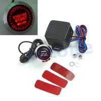 D19+12V Car Engine Start Push Button Switch Ignition Starter Kit Red LED Universal
