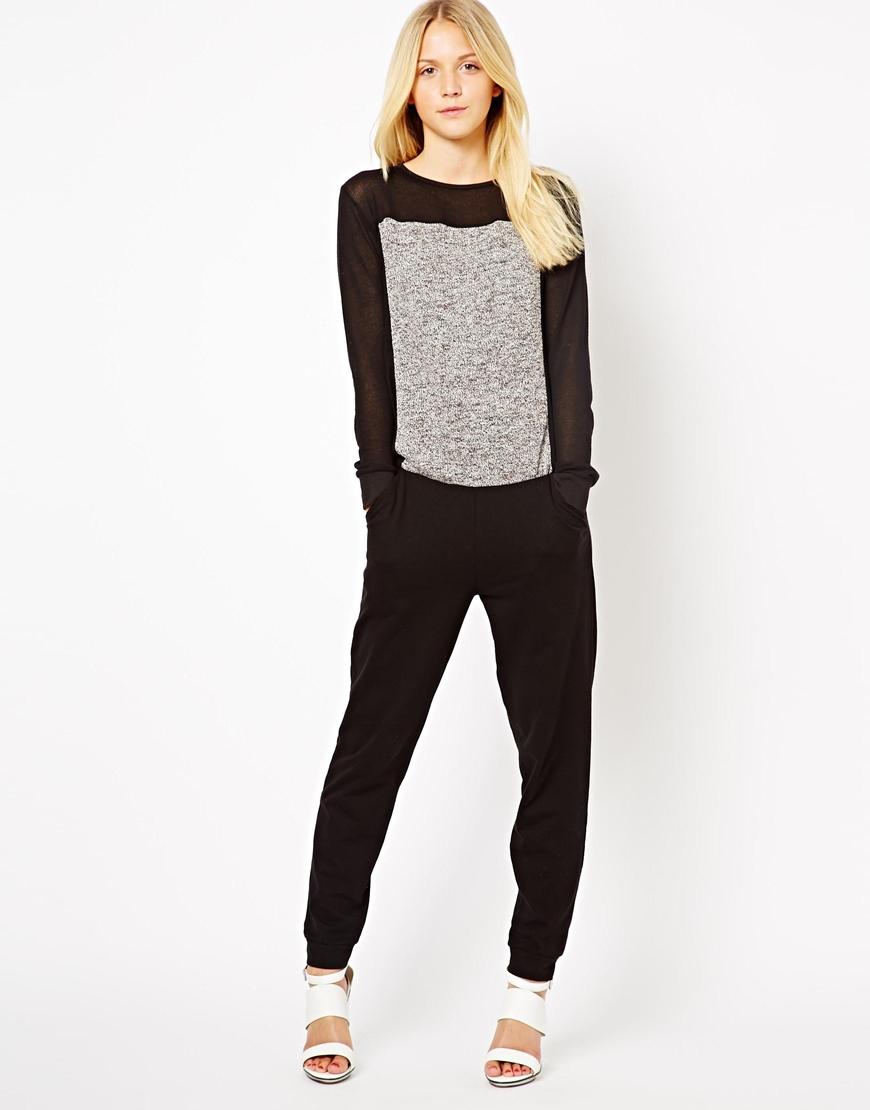 Elegant Womens Long Jumpsuit Plus Size Jumpsuit Lace Patchwork Back Jumpsuit