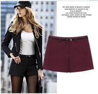 2013 New Free shipping women Autumn winter woolen boot pants slim shorts