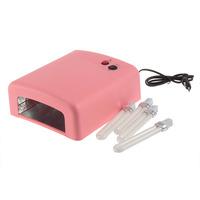 Promotion! 1Pcs 4 X 9W Lamp 220v UV Salon Finger Nail Art Gel 36W 220V Curing Tube Light Dryer