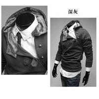 Free Shipping 2013 New Hot Autumn Turtleneck Men's Jackets Men's Sweatshirt Hoodies Clothes Cotton Plus Size XXXL 0015