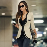 2014 New fashion Women autumn Women Long Sleeve Slim Brand Jacket   V-neck  Jackets 120077
