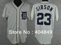 AA+ 23 multi type Kirk Gibson jersey,Tigers home White gray blue throwback authentic,women youth custom baseball free shipping