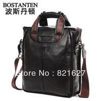 2013 hotselling new Men's Genuine Real Leather Handbag man Shoulder Bag Briefcase Laptop Casual Purse free shipping